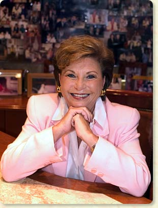 Photo of Arlene Herson in her office.